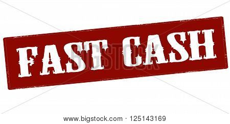Rubber stamp with text fast cash inside vector illustration