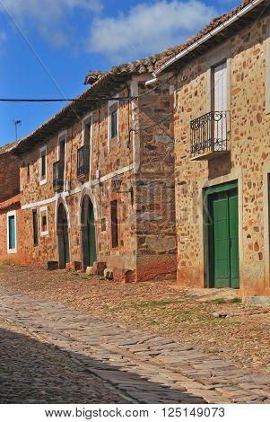 Typical Street In Castrillo De Los Polvazares