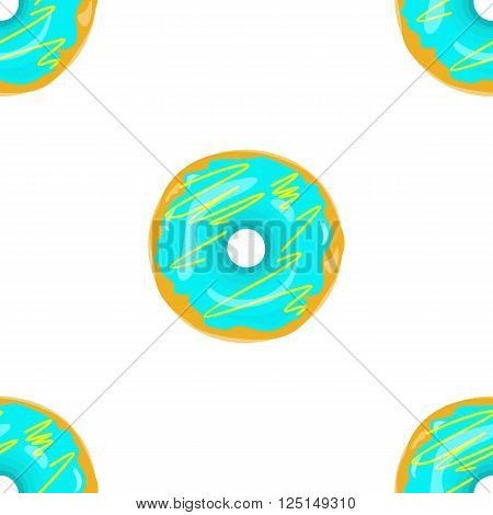 Donut seamless background texture pattern. Cute donuts with glazing. Seamless pattern. Delicious donut glazed. Donut pattern. Vector donuts pattern. Chocolate donuts. Isolated donuts seamless pattern poster