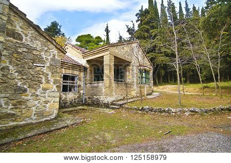 abandoned house of Tatoi Palace, the place where stayed the former greek Royal family, in Attica Greece