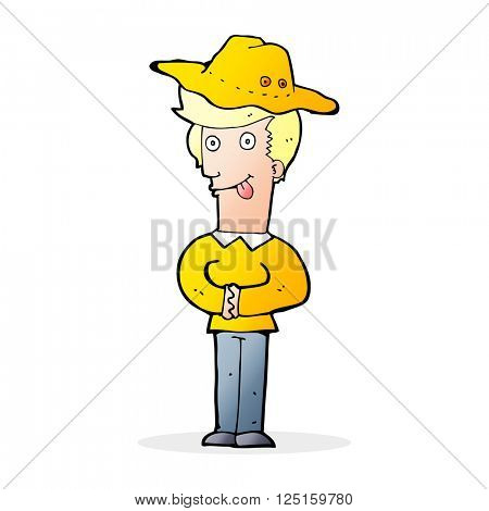 cartoon manin hat