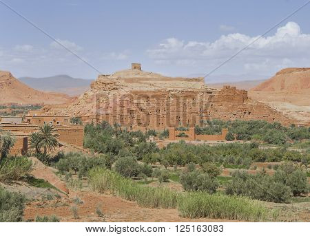 Ait Benhaddou - fortified city on the route between the Sahara Desert and Marrakech in Morocco Africa ** Note: Soft Focus at 100%, best at smaller sizes