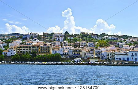 landscape of Pylos in Messinia Peloponnese Greece