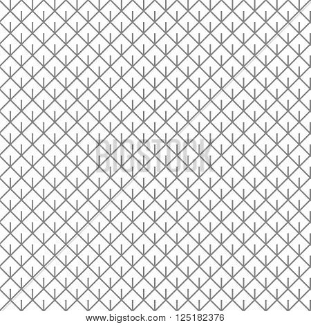 Barbed Square Rhombus Linear Seamless Pattern Background Texture