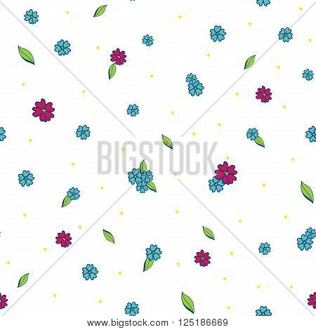 Floral bright colorful vector seamless pattern texture