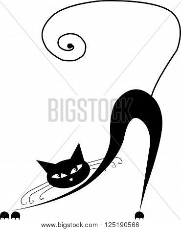 black cat in 2D pretty and nice