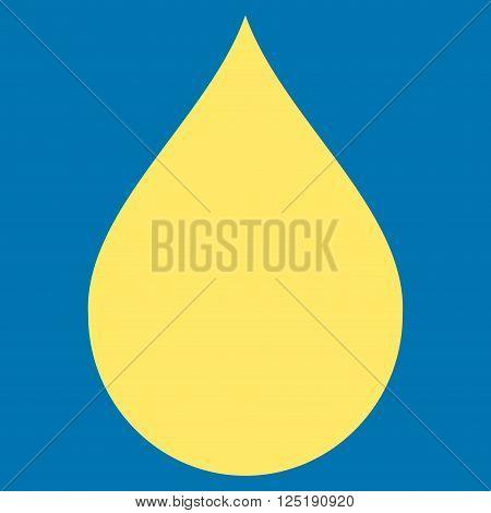 Drop vector icon. Drop icon symbol. Drop icon image. Drop icon picture. Drop pictogram. Flat yellow drop icon. Isolated drop icon graphic. Drop icon illustration.