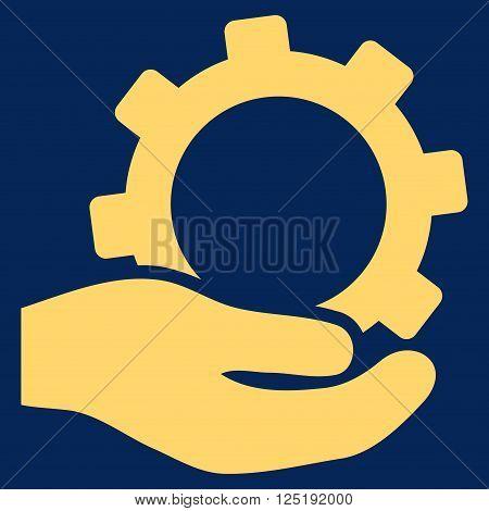Service vector icon. Service icon symbol. Service icon image. Service icon picture. Service pictogram. Flat yellow service icon. Isolated service icon graphic. Service icon illustration.