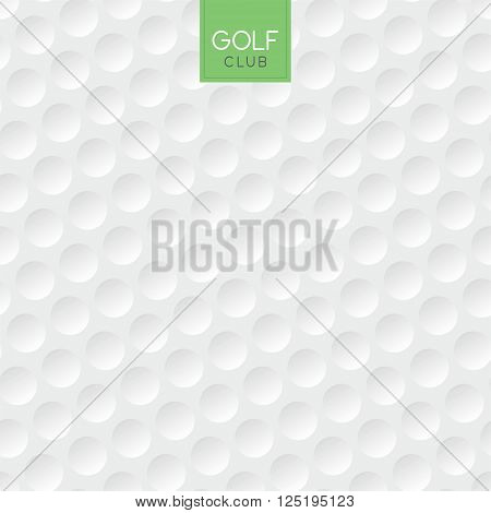 Vector illustration of an abstract golf ball background
