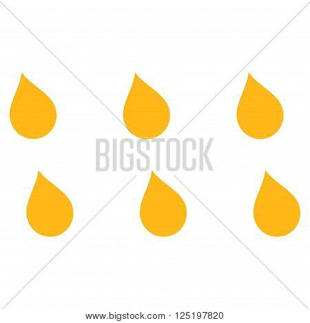 Drops vector icon. Drops icon symbol. Drops icon image. Drops icon picture. Drops pictogram. Flat yellow drops icon. Isolated drops icon graphic. Drops icon illustration.
