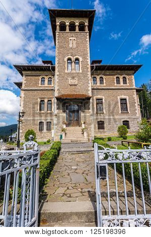 Exterior view of Cantacuzino Castle, Bucegi, Romania