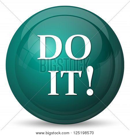 Do it icon. Internet button on white background.
