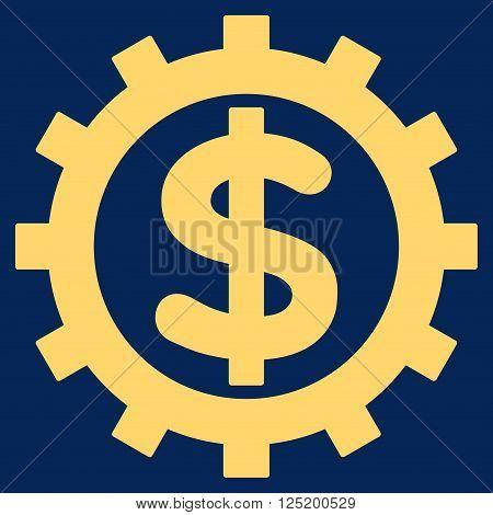 Financial Industry vector icon. Financial Industry icon symbol. Financial Industry icon image. Financial Industry icon picture. Financial Industry pictogram. Flat yellow financial industry icon.