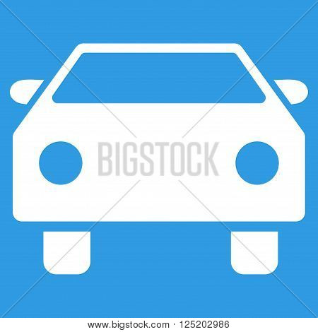 Car vector icon. Car icon symbol. Car icon image. Car icon picture. Car pictogram. Flat white car icon. Isolated car icon graphic. Car icon illustration.