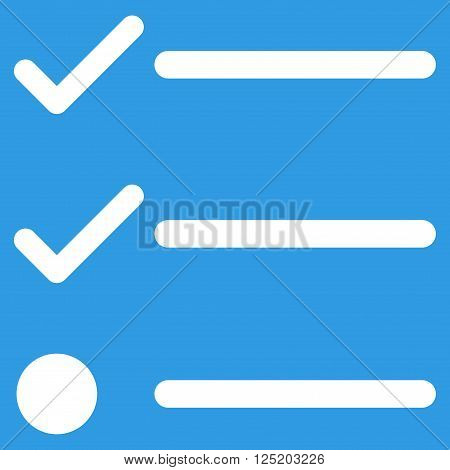 Checklist vector icon. Checklist icon symbol. Checklist icon image. Checklist icon picture. Checklist pictogram. Flat white checklist icon. Isolated checklist icon graphic.