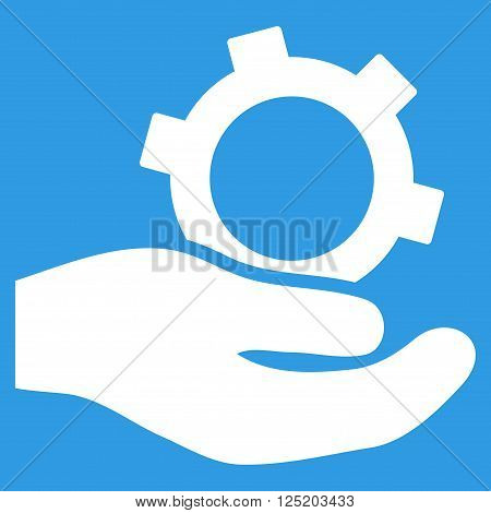 Engineering Service vector icon. Engineering Service icon symbol. Engineering Service icon image. Engineering Service icon picture. Engineering Service pictogram. Flat white engineering service icon.