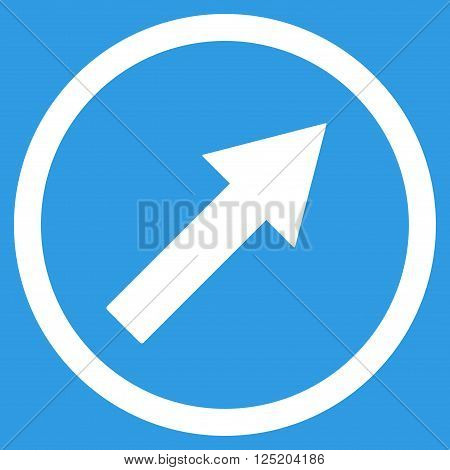 Up-Right Rounded Arrow vector icon. Up-Right Rounded Arrow icon symbol. Up-Right Rounded Arrow icon image. Up-Right Rounded Arrow icon picture. Up-Right Rounded Arrow pictogram.