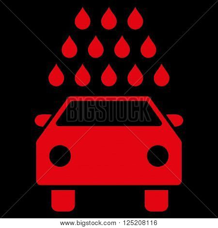 Car Wash vector icon. Car Wash icon symbol. Car Wash icon image. Car Wash icon picture. Car Wash pictogram. Flat red car wash icon. Isolated car wash icon graphic. Car Wash icon illustration.