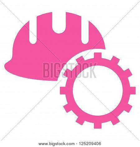 Development Hardhat vector icon. Development Hardhat icon symbol. Development Hardhat icon image. Development Hardhat icon picture. Development Hardhat pictogram. Flat pink development hardhat icon.