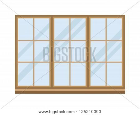 Different types house windows vector elements isolated on white background. Windows elements flat vector style. Vector windows frames. Windows icons on white, Window frame isolated