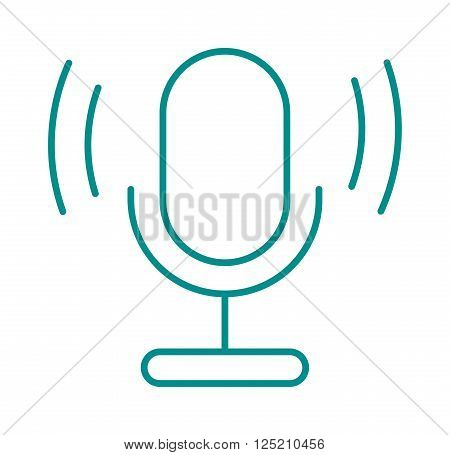 Microphone vector illustration. Microphone vector isolated on white background. Microphone vector icon illustration. Microphone vector isolated. Microphone vector silhouette. Vector microphone icon