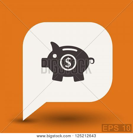 Pictograph of moneybox. Vector concept illustration for design. Eps 10 poster