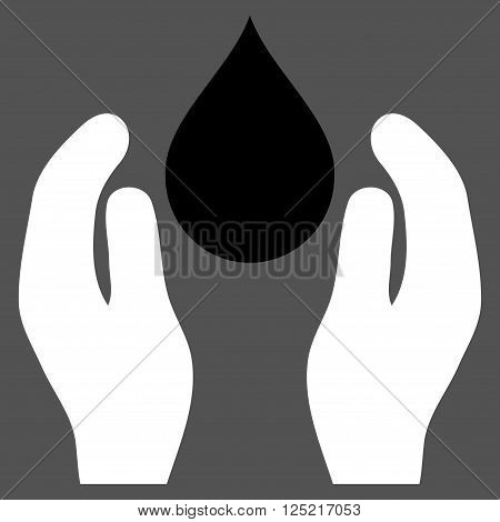 Water Care vector icon. Water Care icon symbol. Water Care icon image. Water Care icon picture. Water Care pictogram. Flat black and white water care icon. Isolated water care icon graphic.