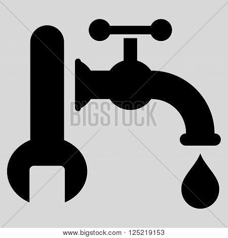 Plumbing vector icon. Plumbing icon symbol. Plumbing icon image. Plumbing icon picture. Plumbing pictogram. Flat black plumbing icon. Isolated plumbing icon graphic. Plumbing icon illustration.