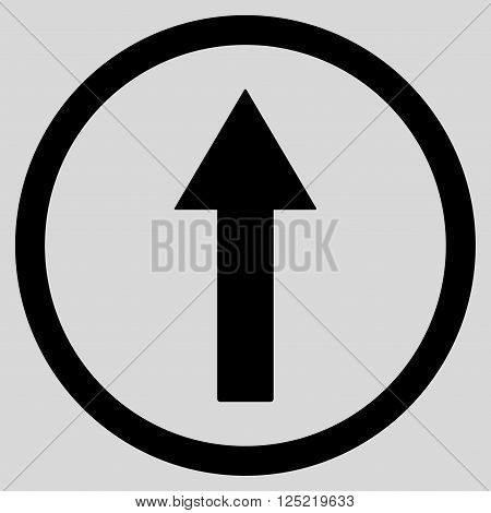 Up Rounded Arrow vector icon. Up Rounded Arrow icon symbol. Up Rounded Arrow icon image. Up Rounded Arrow icon picture. Up Rounded Arrow pictogram. Flat black up rounded arrow icon.