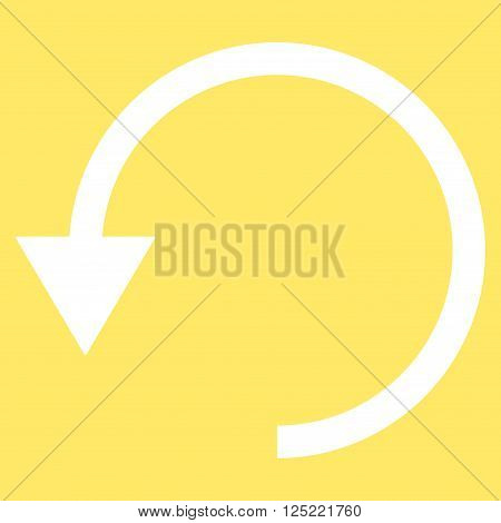 Rotate Ccw vector icon. Rotate Ccw icon symbol. Rotate Ccw icon image. Rotate Ccw icon picture. Rotate Ccw pictogram. Flat white rotate ccw icon. Isolated rotate ccw icon graphic.