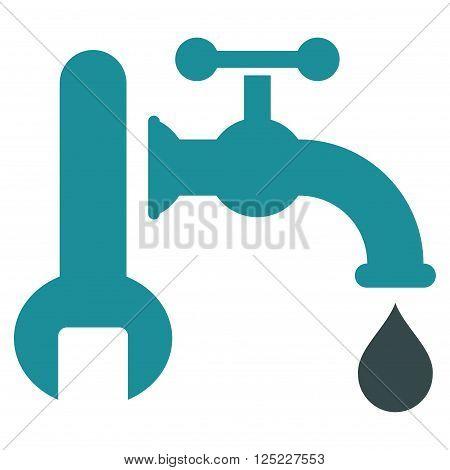 Plumbing vector icon. Plumbing icon symbol. Plumbing icon image. Plumbing icon picture. Plumbing pictogram. Flat soft blue plumbing icon. Isolated plumbing icon graphic. Plumbing icon illustration.