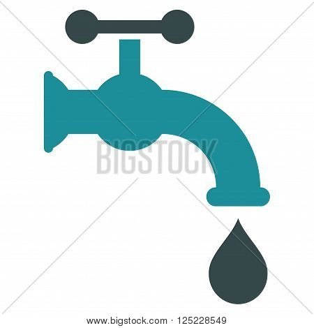 Water Tap vector icon. Water Tap icon symbol. Water Tap icon image. Water Tap icon picture. Water Tap pictogram. Flat soft blue water tap icon. Isolated water tap icon graphic.