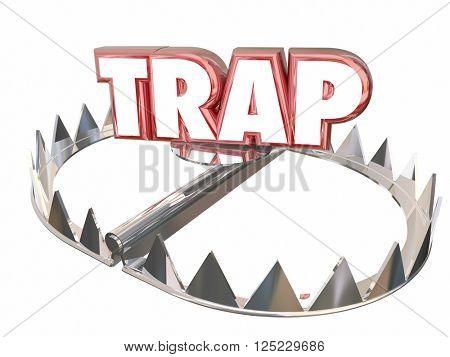 Trap Ambush Risk Danger Avoid Bear 3d Word