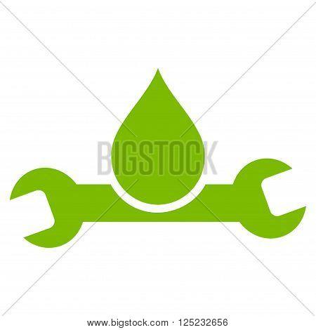 Plumbing vector icon. Plumbing icon symbol. Plumbing icon image. Plumbing icon picture. Plumbing pictogram. Flat eco green plumbing icon. Isolated plumbing icon graphic. Plumbing icon illustration.
