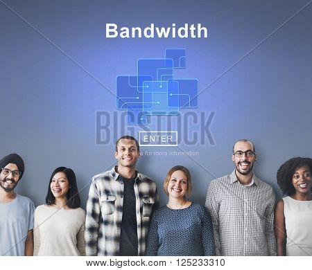 Bandwidth Broadband Connection Data Information Internet Concept