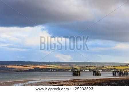 Landscape of mountain at Cromarty Firth in Invergordon, Scotland