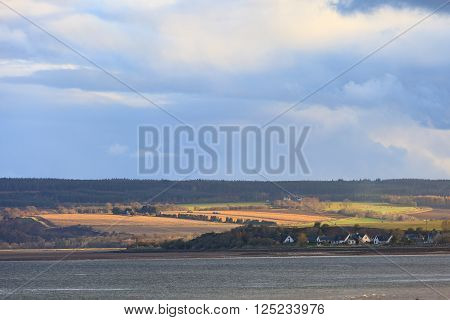 Landscape of mountain at Cromarty Firth in Invergordon Scotland