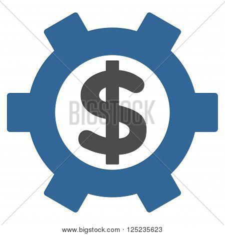 Financial Settings vector icon. Financial Settings icon symbol. Financial Settings icon image. Financial Settings icon picture. Financial Settings pictogram.