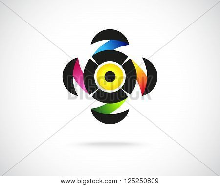 Abstract Colorful Logo Design Template. Creative Round Concept Icon