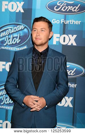 LOS ANGELES - APR 7:  Scotty McCreery at the American Idol FINALE Arrivals at the Dolby Theater on April 7, 2016 in Los Angeles, CA