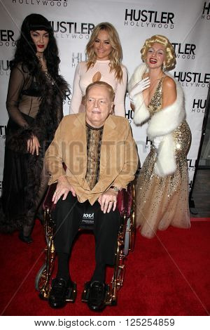 LOS ANGELES - APR 9:  Larry Flynt, Alexis Texas at the Hustler Hollywood Grand Opening at the Hustler Hollywood on April 9, 2016 in Los Angeles, CA