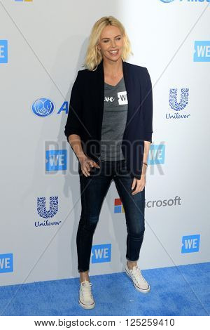 LOS ANGELES - APR 7:  Charlize Theron at the WE Day California 2016 at the The Forum on April 7, 2016 in Inglewood, CA
