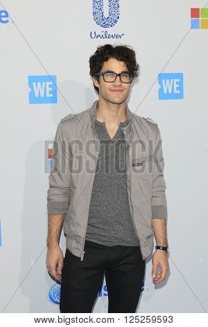 LOS ANGELES - APR 7:  Darren Criss at the WE Day California 2016 at the The Forum on April 7, 2016 in Inglewood, CA