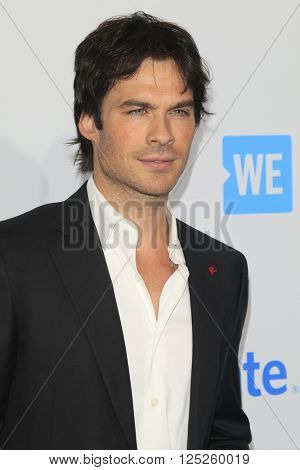 LOS ANGELES - APR 7:  Ian Somerhalder at the WE Day California 2016 at the The Forum on April 7, 2016 in Inglewood, CA