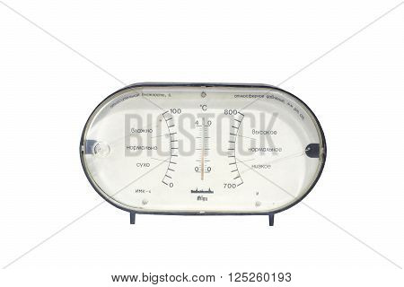 old plastic instrument barometer from the USSR