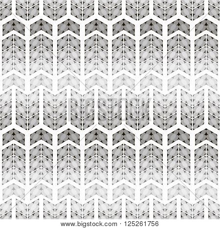 Abstract seamless black and white pattern. Simple flowers of circles inscribed in quadrangles. Cute monochrome print with illusion of volume. Vector illustration for fabric, paper and other poster