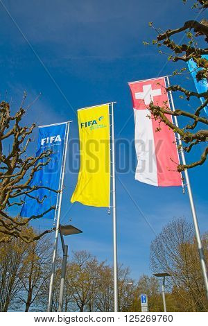 ZURICH - APRIL 10: Headquarter of FIFA international football (soccer) association on April 10, 2016 in Zurich, Switzerland. FIFA is heavily critizied for multiple corruption scandals.