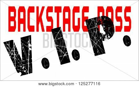 A typical VIP back stage pass badge