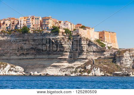 Living Houses And Fortress, Bonifacio, Corsica