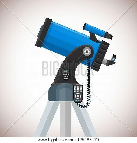 Vector Flat Catadioptric Telescope Illustration.